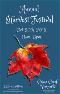 Harvest Festival 2018 Crane Creek