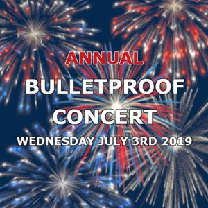 bulletproof concert crane creek