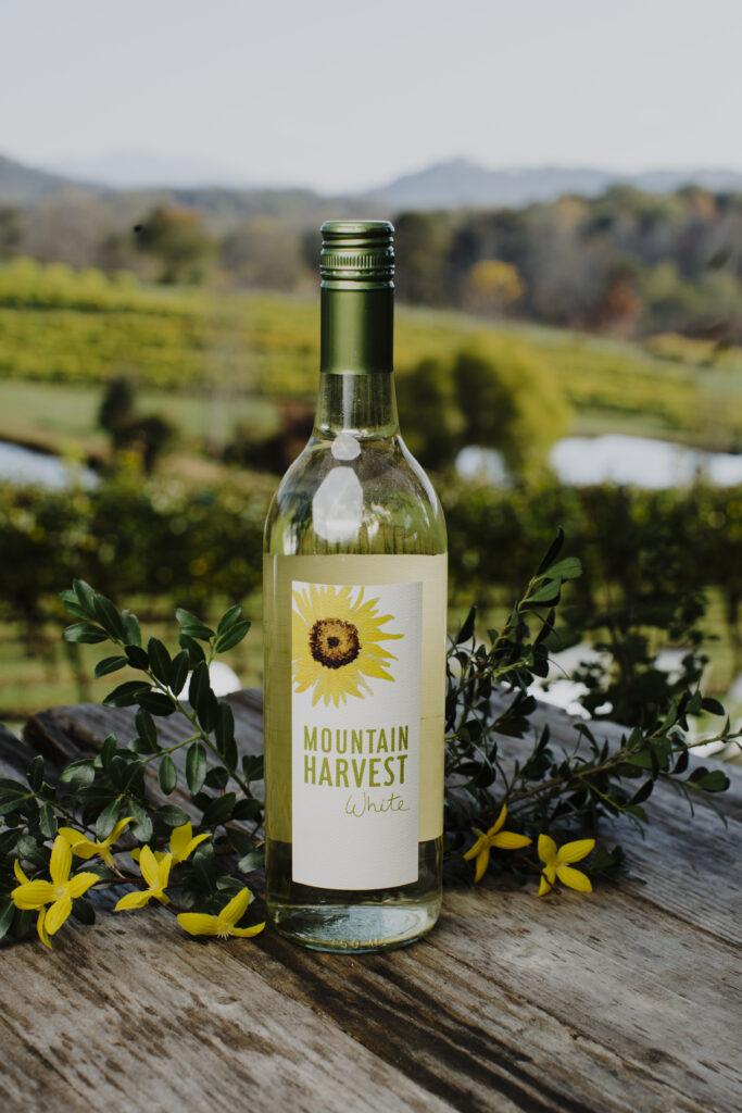 Mountain harvest white bottle