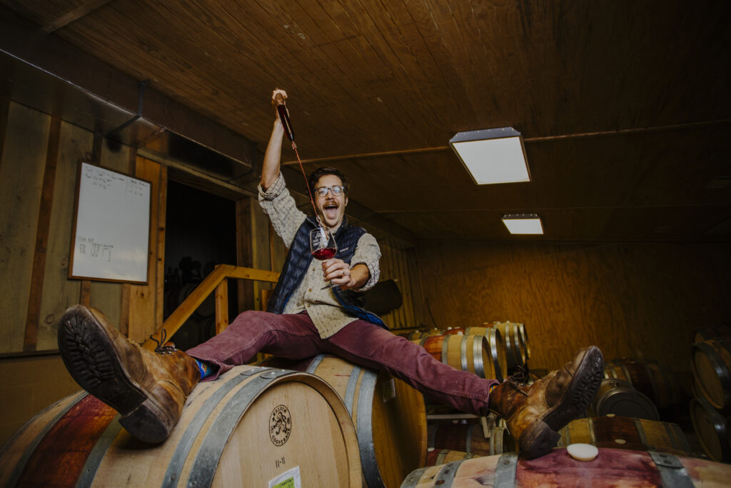 peter on barrel