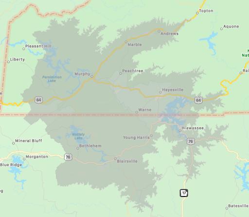 upper hiwassee highlands map